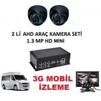 2 KAMERALI 1.3MP AHD Derin Oto Servis Araç Kamera Sistemi